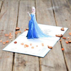 3D Elsa Frozen Pop Up Card