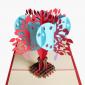 3D Romance Heart Shape Tree Pop Up Card