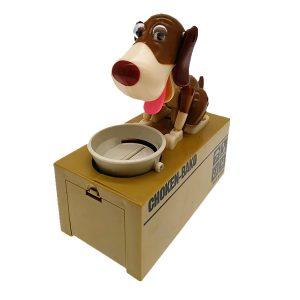 Money Box Piggy Bank Dog Eating Coin